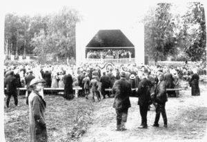 Kauhajoen uusittu nuorisoseurantalo oli laulu- ja soittojuhlien juhlapaikkana toistamiseen 28. – 29.6.1914.