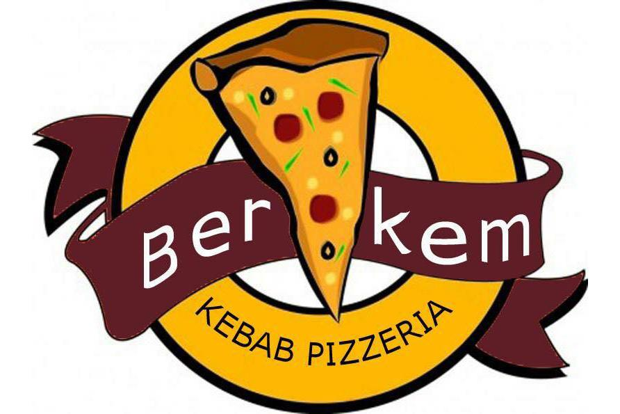 Monivärinen logo, jossa yrityksen nimi Berkem Kebab.