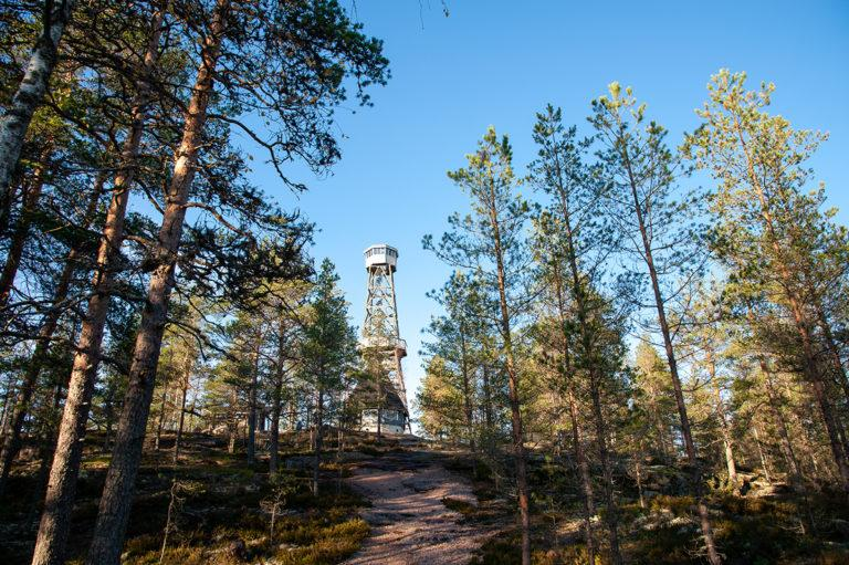 Loukajanvuorella sijaitsee 28 metriä korkea näkötorni sekä kaksi laavua.